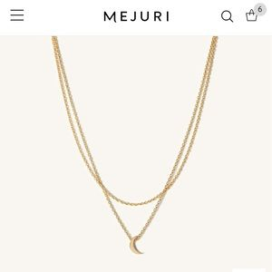 Mejuri layered moon necklace
